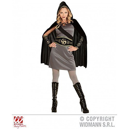 in / Jägerin / Kriegerin / Damenkostüm Fasching Gr. XS = 34 (Kapuzen-jägerin Halloween-kostüm)