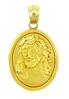 Little Treasures - 10 ct - Gold Religious Pendants - Sacred Heart Of Jesus Yellow Gold Pendant