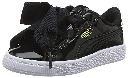 Puma Basket Heart Patent PS, Sneakers Basses Fille, Noir Black, 34 EU