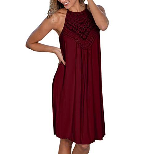 Damen Elegant Trägerloses Quaste Kurzarm Kleid Retro Schulterfrei Rückenfrei Kleider Kurz Boho Kleid T- Shirt Kleid Mini Sommerkleid Strandkleid Party Abendkleid