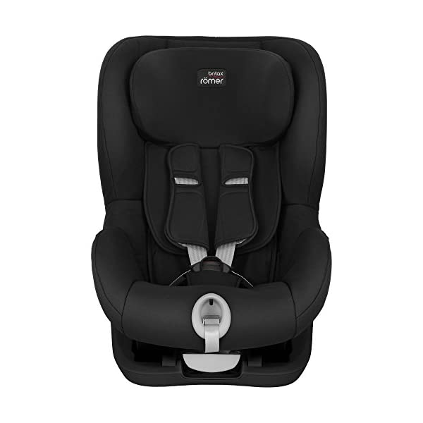 Britax Römer King II Black Series Group 1 (9-18kg) Car Seat - Cosmos Black  Easy installation - with tilting seat and patented seat belt tensioning system Optimum protection - performance chest pads, deep, padded side wings 3