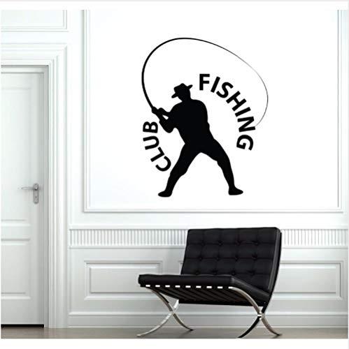 Pescador de pesca Etiqueta de La Pared Logotipo del Club de Pesca...