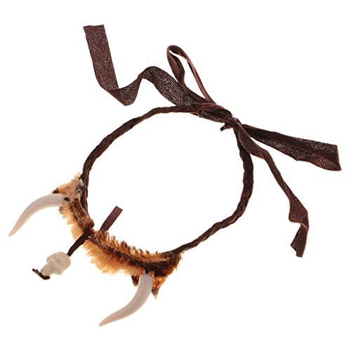 MagiDeal Höhlenmensch Zahn Kopfband Urmensch Haarband Kopfschmuck Party Cosplay Kostüm
