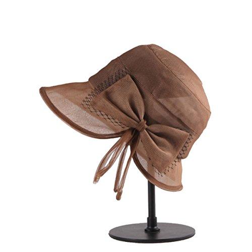 Mme bow chapeau mignon brown