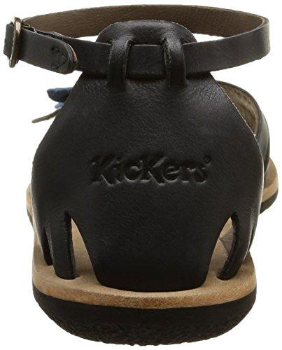Kickers - Spartwin, Scarpe col tacco con cinturino a T Donna Nero (Schwarz (8))
