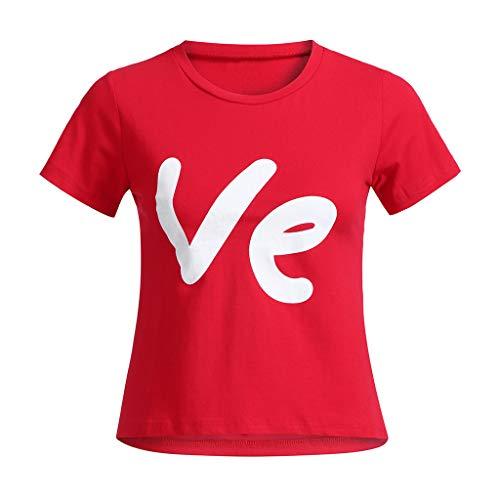 Malloom-Bekleidung Männer Daddy Valentine Brief Print Pullover Bluse T-Shirt Tops Familie Kleidung Eltern-Kind-Kleidung (Familie Pyjamas Plaid)
