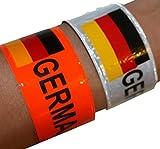 Sonia Originelli Armband 12er-Set bunt Deutschland Fasching Fanartikel Fußball WM EM 2016 FA023