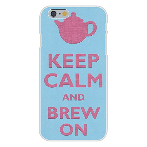 Apple iPhone 6+ (Plus) Custom Case White Plastic Snap On - Keep Calm and Brew On Teapot
