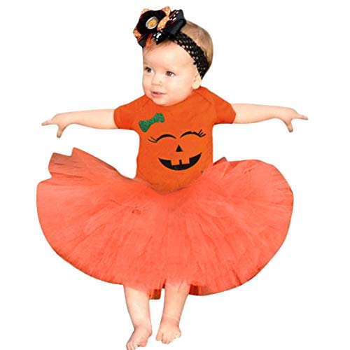 ZEZKT-Kinder Halloween Baby Mädchen Strampler und Rock Set -