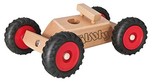 Rewoodo Kibbly Kreideauto inkl. 6x GOKI Kreidestift - Holzspielzeug Straßenmalkreide Kreide Jungen Mädchen ab 3 Jahren Kinder Baby Spielzeug