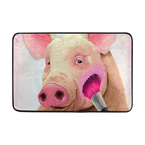 beautiful& 59,9 x 39,9 cm Rutschfeste Polyester Fußmatte Make-Up Schwein Tür Matten Waschbarer Eingang Teppich für Innen Außen Terrasse Wohnzimmer - Nc Dallas