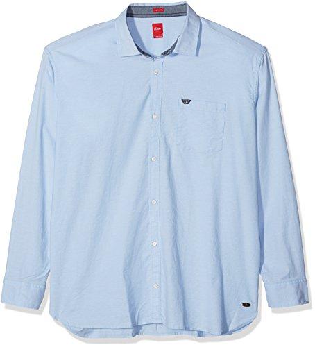 s.Oliver Big Size Herren Freizeithemd Blau (Beau Blue 5332)