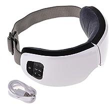 Diuspeed Masajeador de Ojos inalámbrico USB 6S, Recargable Bluetooth Masajeador de Ojos Plegable Presión de