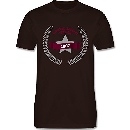 Geburtstag - 1987 Limited Special Edition - Herren Premium T-Shirt Braun