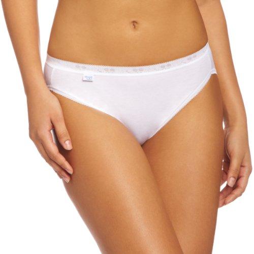 Sloggi BASIC+ Tai - Mutandine di cotone, pacco da 3, donna, colore Bianco (White), taglia 3 IT (14 UK)