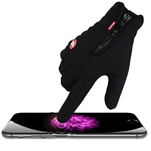 COTOP Outdoor Windproof Work Cycling Hunting Climbing Sport Smartphone Touchscreen Gloves for Gardening, Builders, Mechanic(Black, M)