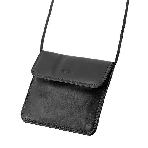 Rada Brustbeutel Tasche aus Leder zum umhängen für Outdoor, Wandern oder als große Geldbörse Unisex für Damen und Herren (schwarz)