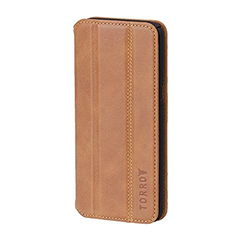 TORRO iPhone 7 Case, Premium leather 'Full Protection' cover, 360 degree stylish protection ( iPhone 7, Premium Tan USA Leather