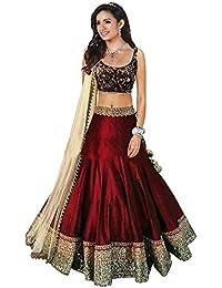 0769ee6a0e Loc Women's Bangalori Silk Semi-stitched Free Size Lehenga Choli (Multi  Colour)