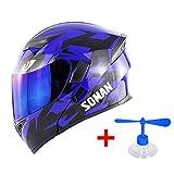 OD-B Motorradhelm Cross Helm, Integralhelm Klapphelm DOT Downhill Fullface Motorrad Erwachsene Helm,...