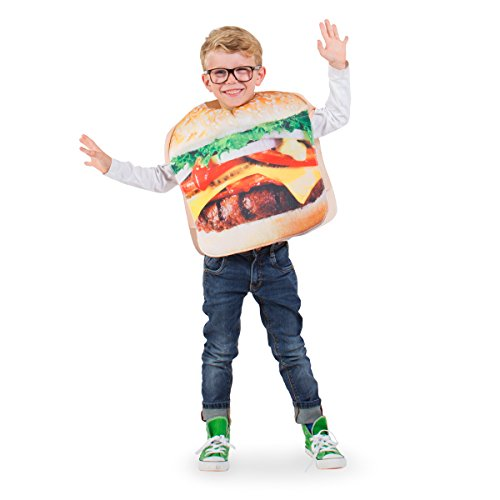 Folat 21910 Hamburger Kostüm Kind, Unisex Children, Mehrfarbig, One Size (Fast Food Kostüm)