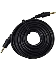 Pluto Accessories 10 Mtr.Aux Cable, 3.5mm Male to Male Stereo Aux Cord Compatible with Headphone, MobilePhone, Car Stereo, Home Theatre & More,10 Meter (32.8 feet).Black