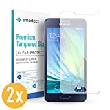 smartect Panzerglas kompatibel mit Samsung Galaxy A3 2015 [2 Stück] - Displayschutz mit 9H Härte - Blasenfreie Schutzfolie - Anti Fingerprint Panzerglasfolie