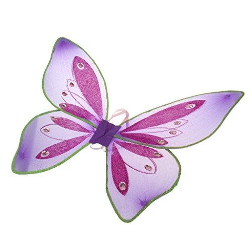 Kostüme Feen Lila (MagiDeal Glitzer Schmetterling Flügel - Feen Kostüm Kinder -)