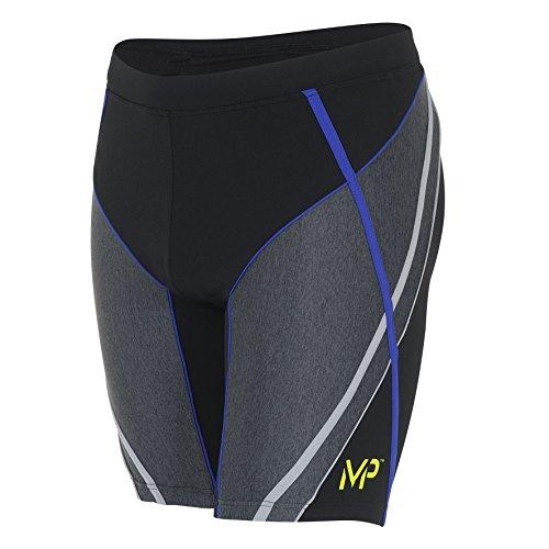 Aqua Sphere Michael Phelps Schnell Herren Badehose Jammers Shorts Trunk Pool Schwimmen, Black/Royal Blue, 36 Inch / 91cm Waist