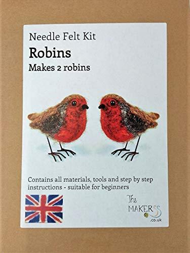 The Makerss Robin Makes 2 - Kit agujas fieltro, fabricado