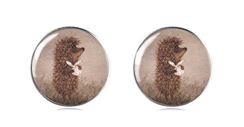 terling Silber Igel Ohrstecker 12 mm Handgemachte Ohrringe für Damen und Mädchen perfektes Geschenk oder für Party (Wolf Hoodie Mit Ohren Für Männer)