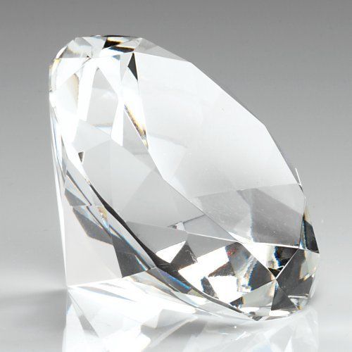 120mm-plain-clear-glass-diamond-shapped-paperweight-complete-with-gift-box-dia120