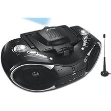 Aiptek Mobile Cinema D25 LED-Projektor (Kontrast 100:1, 20 ANSI Lumen, 640x 480) schwarz