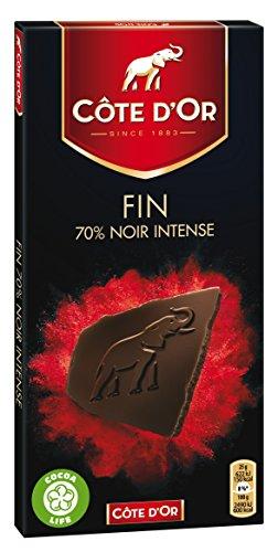 Chocolat noir intense Dégustation 70% de cacao CÔTE D'OR, 100g