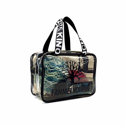 la baignade imperméables en pvc transparent fitness à sac, sac de plage, maquillage,aucun filet oeil 25cm moyennes paquet