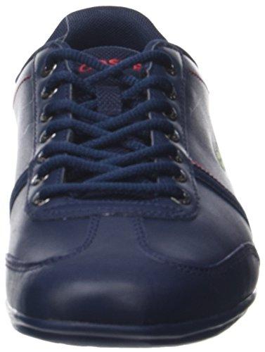 Lacoste Misano Sport 118 1 Cam, Baskets Homme Bleu (Nvy/Red)