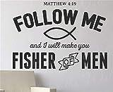 wandaufkleber kinder junge Matthäus 4:19 Folgen Sie mir, und ich werde Sie zum Manneschlafzimmer machen