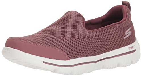 Skechers Damen Go Walk Evolution Ultra-Reach Slip On Sneaker, Violett (Mauve Mve), 36.5 EU (Skechers Go Walk Nahtlose)