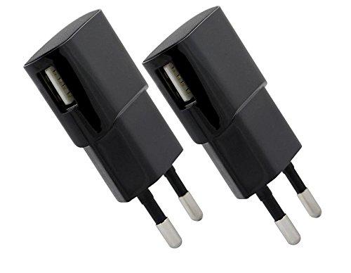 2er Spar-Set USB Ladegerät 5V/1,2A , HNP06-USBV2-Black - Steckernetzteil für Apple und die Mehrzahl der tragbaren IT und Multimedia Geräte
