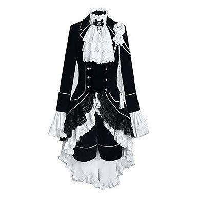 HAOBAO Inspiriert von Black Butler Ciel Phantomhive Anime Cosplay Kostüme Cosplay Kostüme Einfarbig Patchwork LangarmWeste Hemd Rock, 10 * 5 (Rock Inspirierte Kostüm)