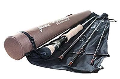 Flextec CDX66 4 piece Fly Fishing Rod for Trout Rod, Sea Trout, Salmon Grilse fishing Rod 9ft 10ft and 11ft in sizes 5/6, 6/7, 7/8, 8/9 from Flextec
