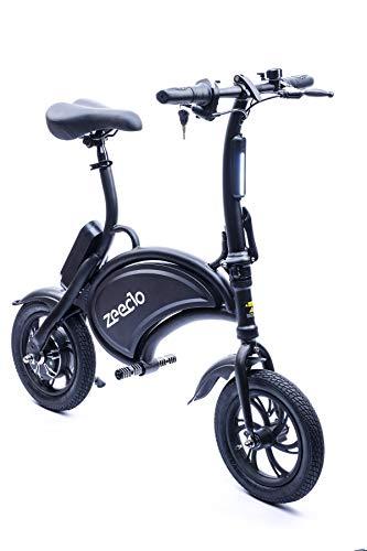 ZEECLO B200 Mini Ebike, Juventud Unisex, Negro, Mediano