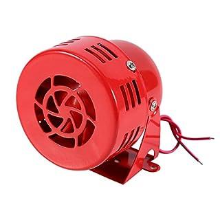 Elerose 12V 110dB motorisch Alarm,Luftalarm Alarm Sirene Elektroauto LKW SUV Motorrad angetrieben Horn Kompakt Rot