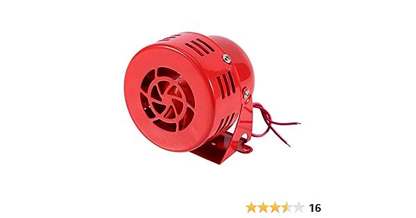 Elerose 12v 110db Motorisch Alarm Luftalarm Alarm Sirene Elektroauto Lkw Suv Motorrad Angetrieben Horn Kompakt Rot Auto