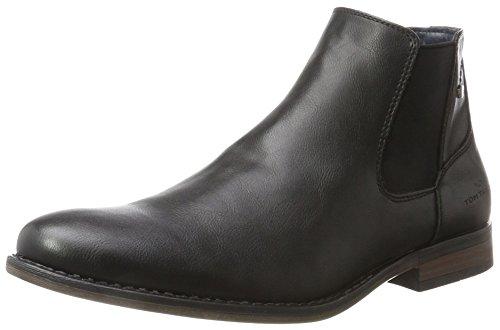 TOM TAILOR Herren 3780003 Chelsea Boots, Schwarz (Black), 44 EU
