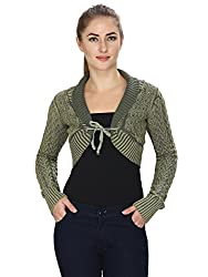 MansiCollections Green short Shrug for Womens