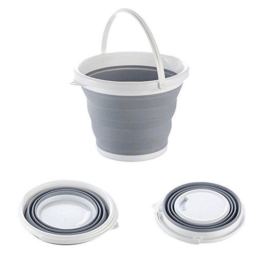 Pawaca Portable Collapsible Eimer, Multifunktionale Faltbare Silicon Eimer, Home Storage und Outdoor Wasch Eimer Wasserbehälter für Wasserlagerung, Wäsche, Autowaschanlage, Angeln