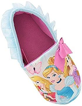 Pantofole invernali rosa e celesti per bambine con motivo Disney Frozen, Elsa, Anna, Olaf