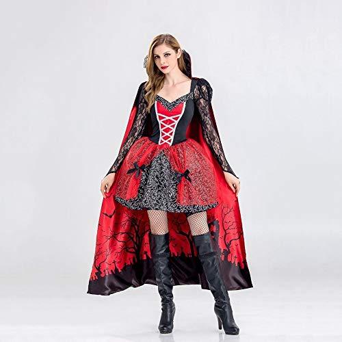 Kostüm Zombie Abschlussball - Shisky Halloween kostüm Damen, Halloween Hexe Kostüm Vampir Zombie Kostüm Demon Queen Kostüm Abschlussball Kostüm