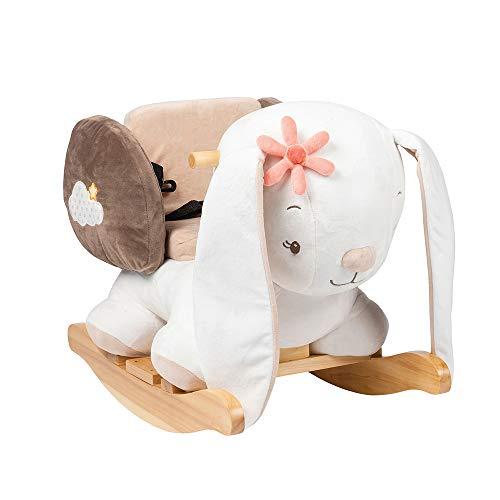 Nattou Schaukeltier Hase Mia, 10 - 36 Monate, 60 x 39 x 50 cm, Weiß